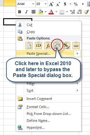 how to cut and paste values in excel copy paste values