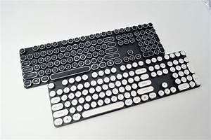 108 Keys Round Abs Steampunk Antique Typewriter Keycaps For Mechanical Keyboard