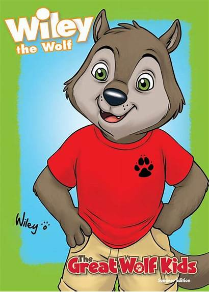 Wolf Lodge Wiley Clipart Cards Cartoon Violet
