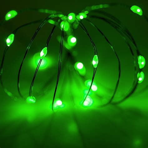 battery operated lights  green battery operated led