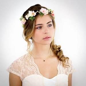 Couronne Fleur Cheveux Mariage : couronne fleurs cheveux mariage ~ Melissatoandfro.com Idées de Décoration