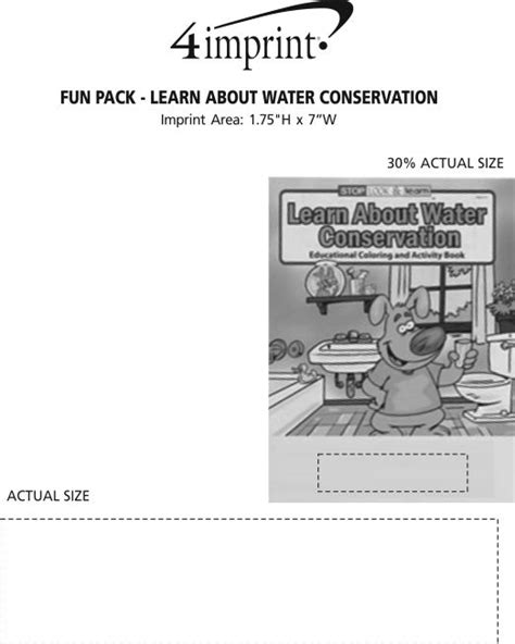 4imprintcom Fun Pack  Learn About Water Conservation 117148wc