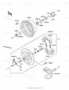 Kawasaki Atv 2003 Oem Parts Diagram For Front Hub