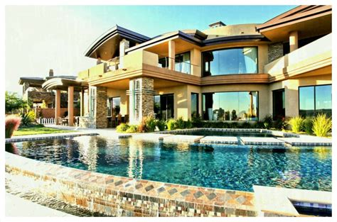 Modern Big Mansions With Pools. Home Design. Gombrel Home