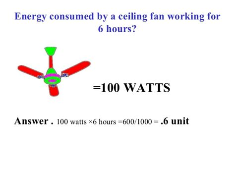 ceiling fan power consumption power consumption of household equipments in india