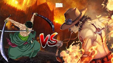 Zoro Vs Ace Mugen Epic Battles Hd