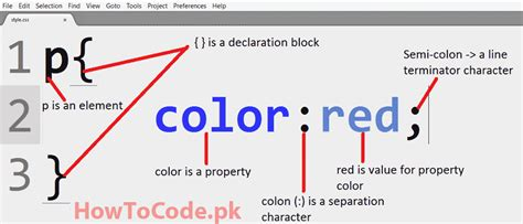 how to change text color in css text color property in css howtocode pk
