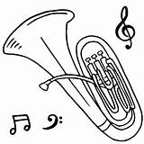Tuba Coloring Pages Instruments Orchestra Drawing Musical Tubby Drawings Cartoon Cello Printable Brass Getdrawings Trombone Player Guitar Template Coloringpagebook Getcolorings sketch template
