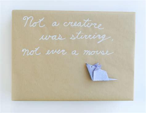zakka life chrismas gift wrap with origami details