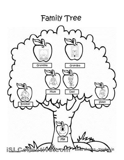 family tree coloring page grade 2 social studies