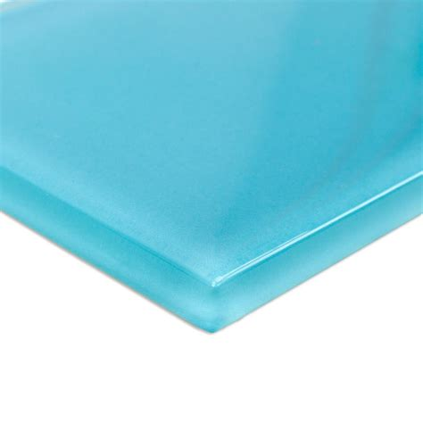 turquoise floor tile splashback tile contempo turquoise polished glass mosaic floor and wall tile 6 in x 3 in x 8