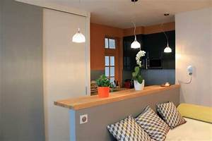comment meubler une petite cuisine petite cuisine With awesome comment meubler un petit studio 14 comment decorer un salon de 26m
