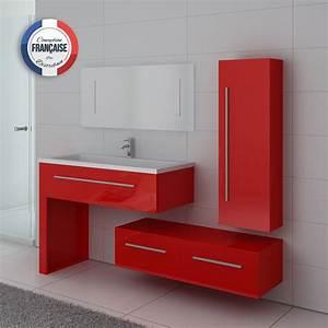 meuble de salle de bain rouge coquelicot dis9251co meuble With salle de bain design avec meuble salle de bain rouge pas cher