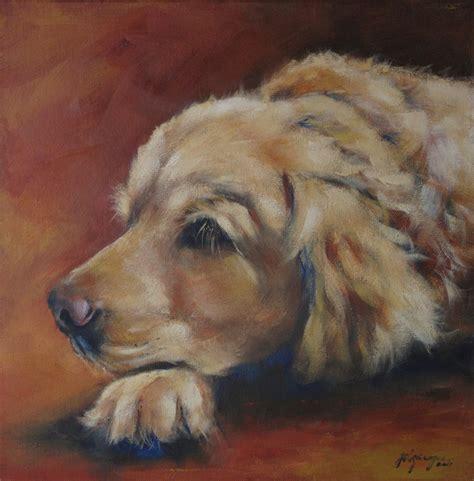 julie dalton gourgues custom pet portrait painting pet art pinterest portraits golden