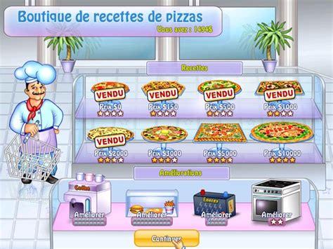 jeux de fille cuisine pizza jeu pizza chef à télécharger en français gratuit jouer jeux deluxe gratuits