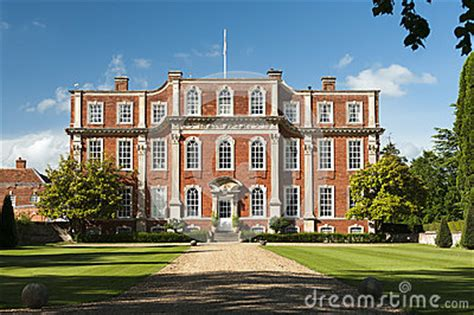 english mansion chicheley hall royalty  stock images