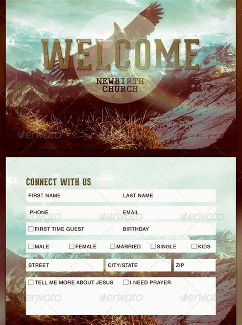 church connection card templates graphicmule