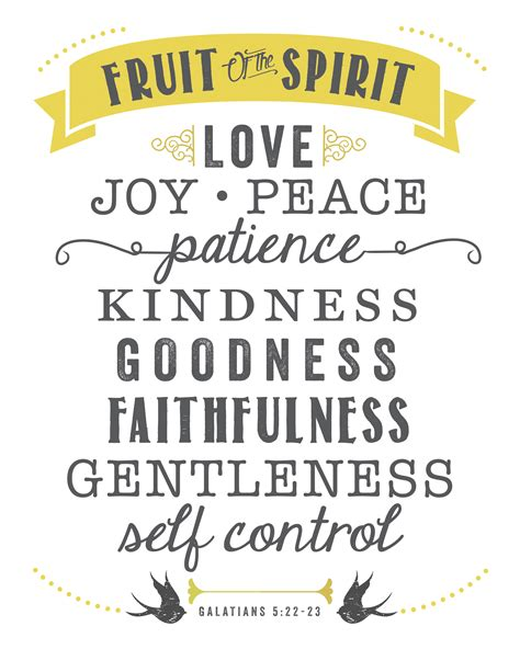 free printable fruit of the spirit sincerely d