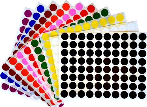 colored circle stickers color coding labels 1 2 quot rounds dot colored half inch