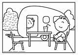 Caravan Kleurplaat Vakantie Lola Frokkie Kleurplaten Tea Coloring Afkomstig Nl Van Zomer Sheets sketch template