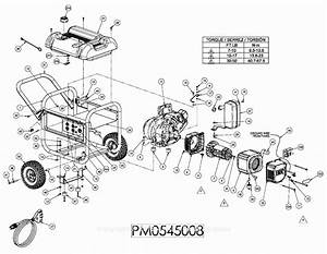 Powermate Formerly Coleman Pm0545008 Parts Diagram For Generator Parts