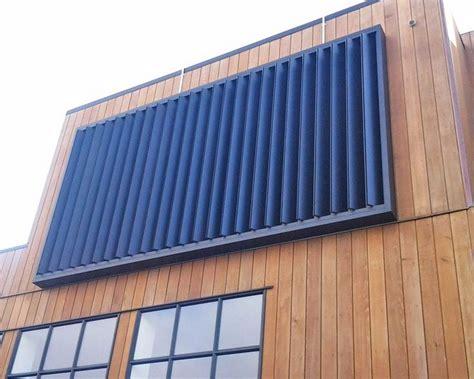 aluminium motorised sun louvres vanguard blinds   exterior blinds aluminum awnings