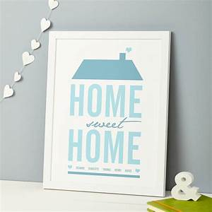 Home Sweat Home : personalised 39 home sweet home 39 print by thispaperbook ~ Markanthonyermac.com Haus und Dekorationen