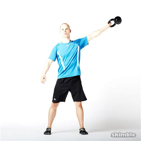 kettlebell lateral swings left jab exercise cross sit body kettlebells dumbell workout gym skimble exercises frank equipment strength categories step