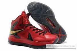 Nike Lebron 10  X  PS Elite Black Gold Blue Basketball Shoes  Lebron      Lebron 10 Championship Red