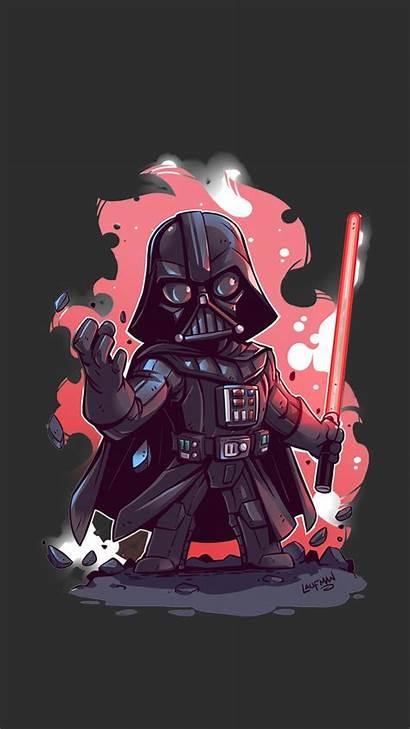 Vader Darth Wars Wallpapers Desktop Iphone Cartoon