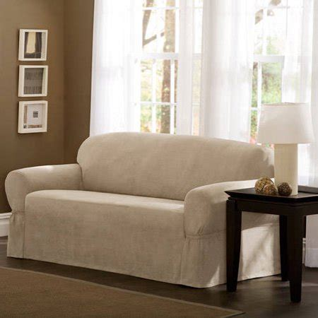mainstays faux suede loveseat slipcover walmartcom