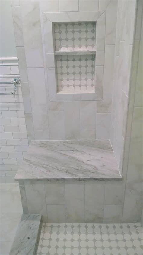 nailedit master bathroom reveal marble  tile faux
