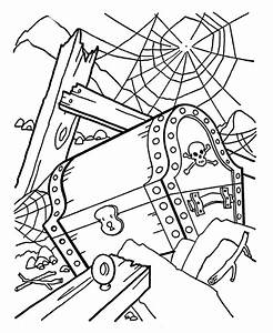Pirate Treasure Chest Coloring Page - AZ Coloring Pages