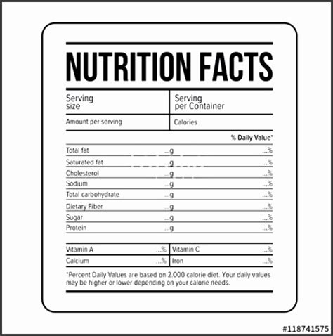 5 Ingredients Label Template