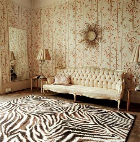 le tapis zebre une decoration extravagante  moderne