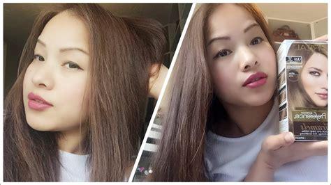 How To Dye Asian Hair-black Hair To Ash Brown / Loreal