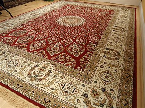 Silk Rugs Red Traditional Rugs Living Room