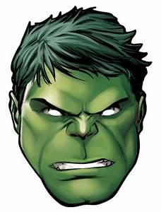 Hulk from marvel39s the avengers single card party face for Avengers mask template