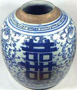 Huge Antique 19thC China Hand Painted Porcelain Blue+White ...