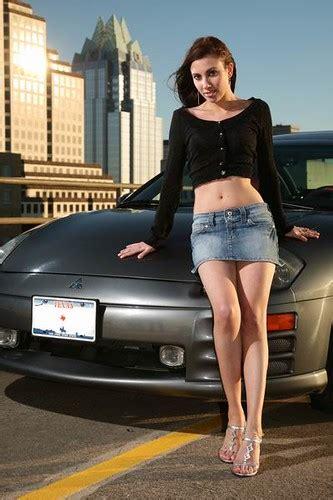 girl   car  model  shoot   mitsubishi