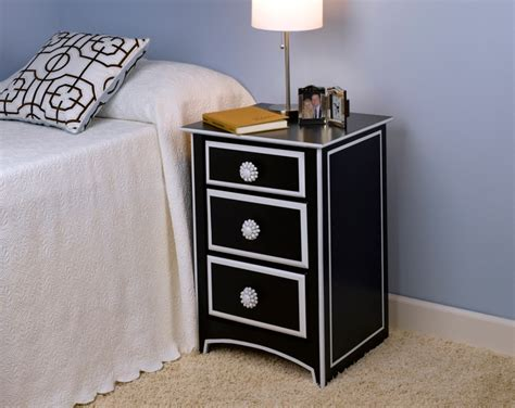 Black And White Nightstands by Black White Nightstand Project Home D 233 Cor Spray Paint