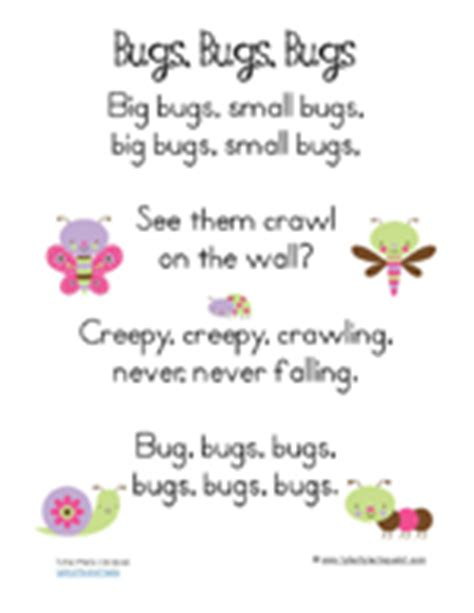 1 1 1 1 sing along with me 348 | Preschool Pack Pretty Bugs17
