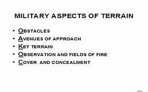 Military Aspects Of Terrain  Armystudyguide Com