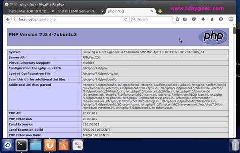 install lemp server nginx 1 9 php 7 0 mariadb 10 1