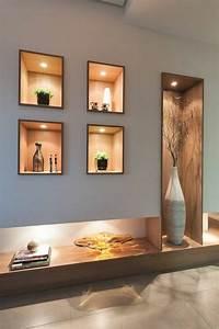 Decoration Led Interieur : 1001 id es comment d corer vos int rieurs avec une niche murale interior furniture modern ~ Nature-et-papiers.com Idées de Décoration