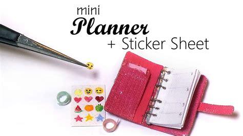 miniature planner tape sticker sheet tutorial youtube