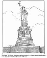 Liberty Statue Coloring Pages Printable York Skyline Colouring Island Ellis Template Traditional Simple Inkspired Musings Sculpture Historical Colored Roses Getcoloringpages sketch template