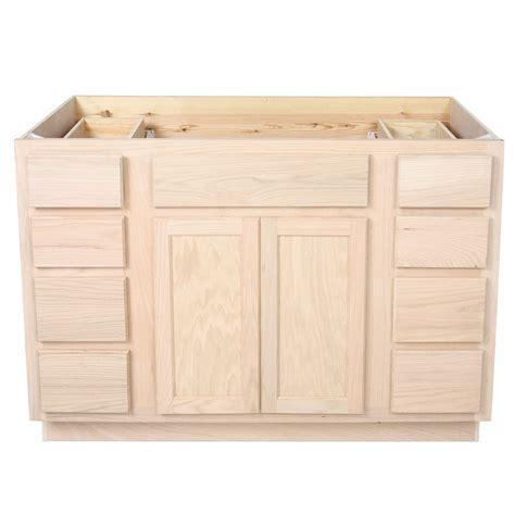 unfinished oak bathroom vanity sink  drawer base
