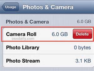 delete all photos from iphone at once