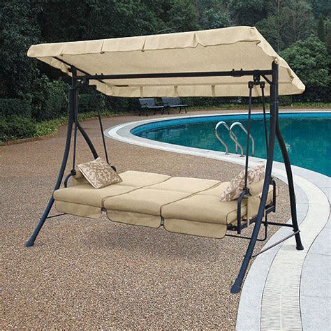 Patio Swings With Canopy Menards by Walmart Harvey 3 Seater Hammock Swing Replacement Canopy